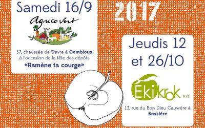 Pressage de vos fruits dès le 16/09/2017 !