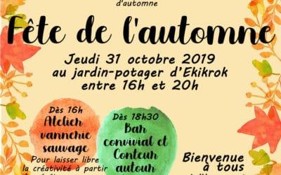 Fête de l'automne – 31 octobre 2019